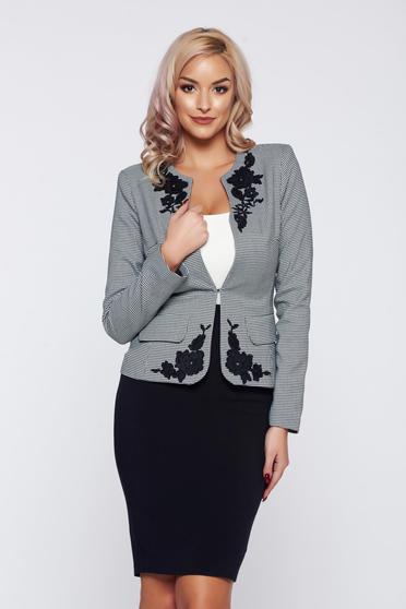 LaDonna black office elegant lady set with print details