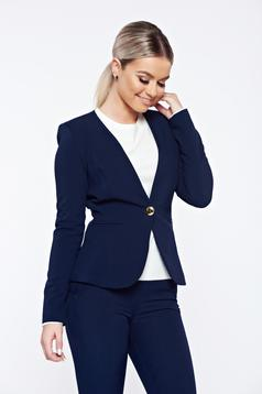 Fofy darkblue office tented jacket with inside lining
