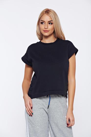 Adidas darkgrey sporty elastic cotton t-shirt with easy cut