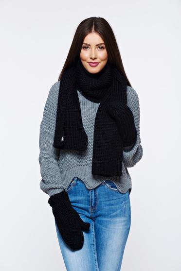Black Adidas scarf knitted fabric