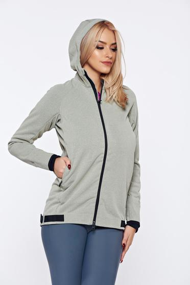 Adidas grey casual hoodie with pockets with undetachable hood