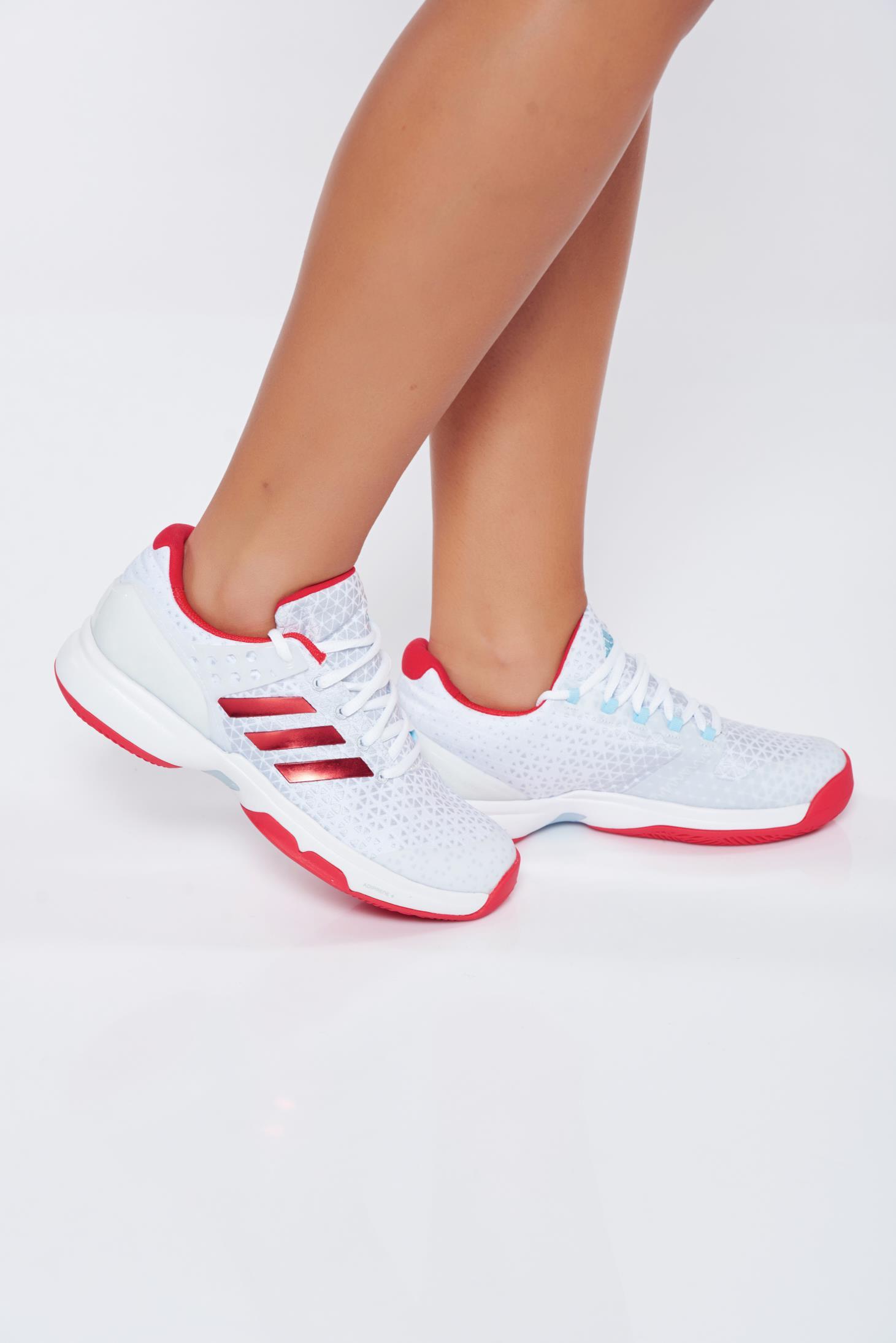 bcc6bb3385 Fehér Adidas hétköznapi sport cipő lapos talpú műbőr