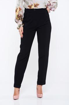 PrettyGirl black high waisted office trousers with pockets