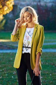 Top Secret yellow casual tented jacket with 3/4 sleeve