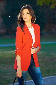Top Secret red casual tented jacket with 3/4 sleeve
