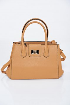 Darkbrown casual upper material: ecological leather bag metalic accessory
