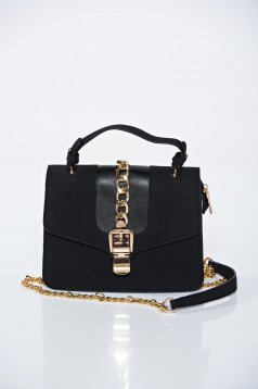Black casual bag a compartment with internal pockets
