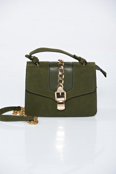 Green casual bag a compartment with internal pockets