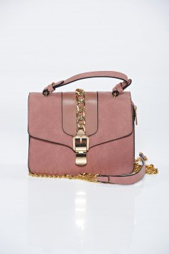 Pink casual bag a compartment with internal pockets