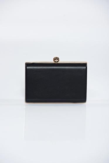 Black occasional bag with metalic accessory