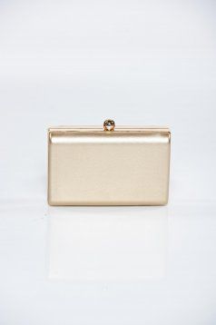Gold occasional bag metalic accessory