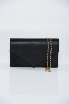 Black occasional bag metallic aspect