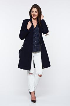 LaDonna darkblue casual coat with inside lining with pockets