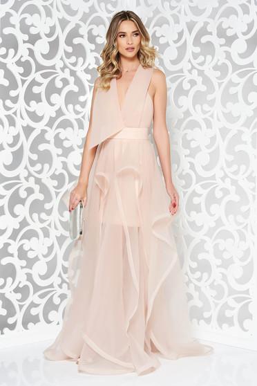 Ana Radu rosa cut back occasional dress