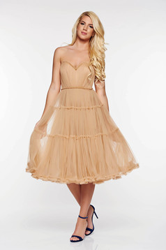 Ana Radu cream occasional corset dress from tulle with push-up cups