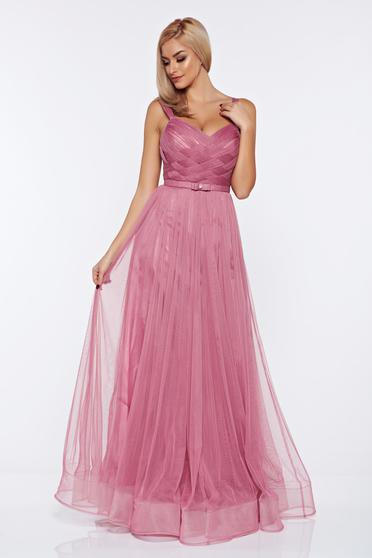 Ana Radu rosa evening dresses dress with braces accessorized with tied waistband