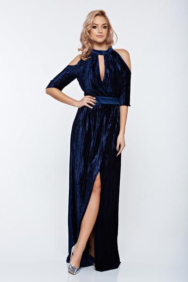 Artista darkblue occasional dress cut-out sleeves
