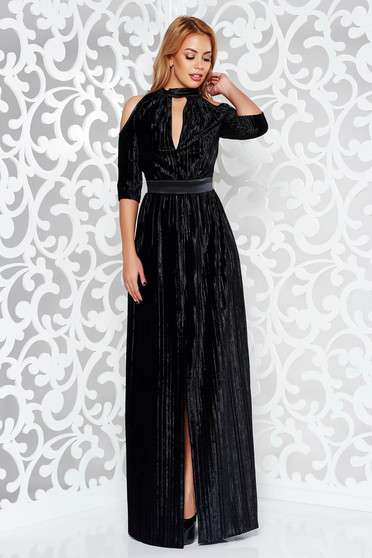 Artista black occasional dress cut-out sleeves