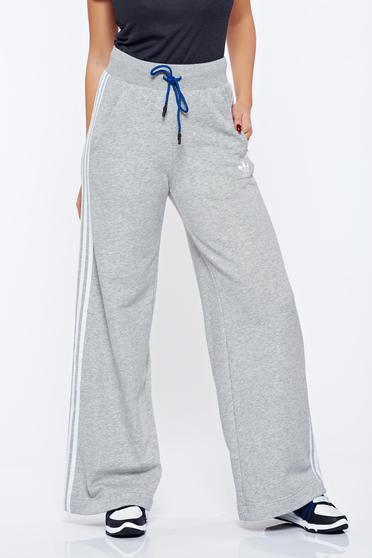 Adidas grey sporty cotton trousers with easy cut