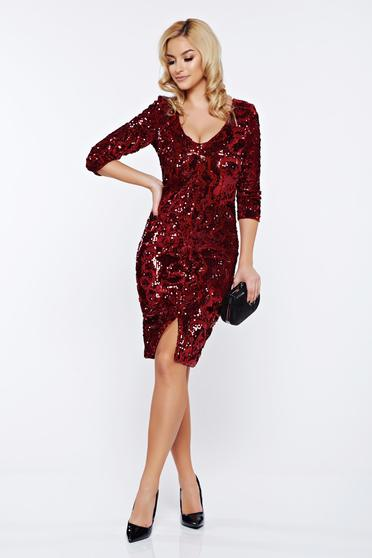 StarShinerS red dress with sequins with inside lining occasional