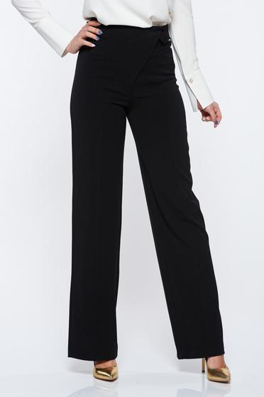 PrettyGirl black office high waisted trousers with easy cut