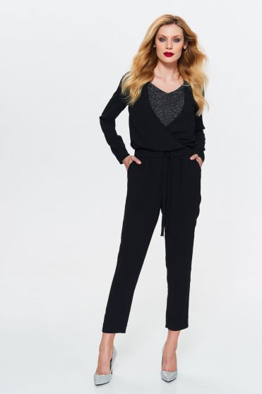 Top Secret S033035 Black Jumpsuit