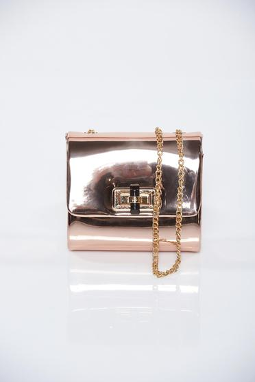 Rosa bag with metallic aspect accessorized with chain