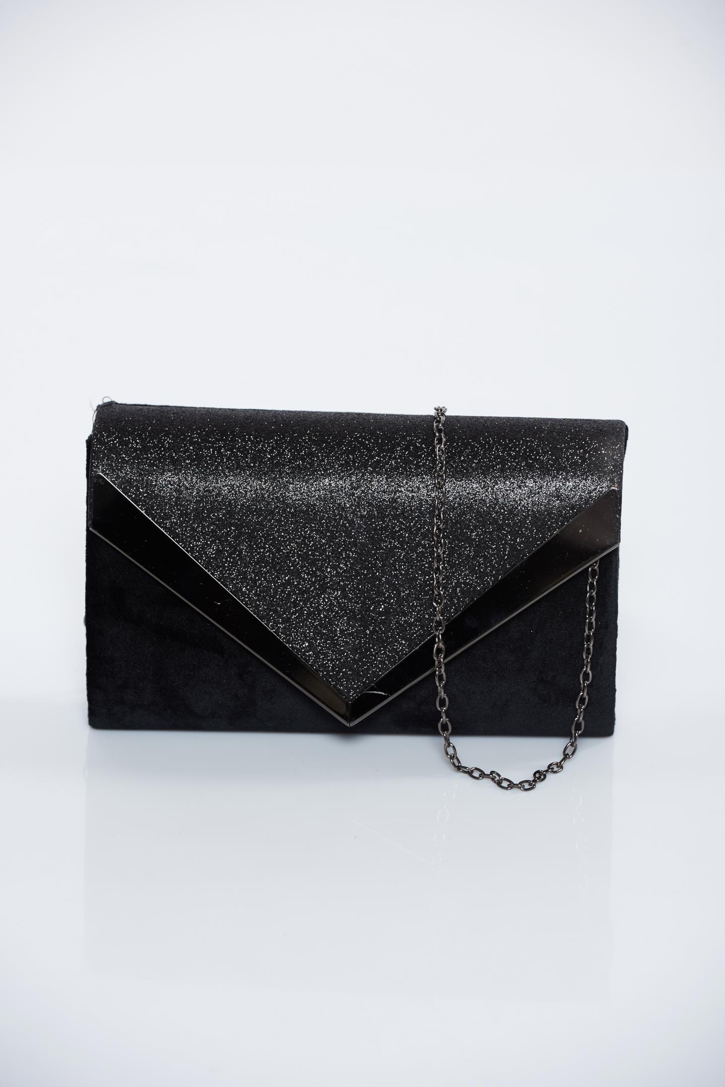 09066c973b Fekete alkalmi bársony táska csillogó díszítésekkel