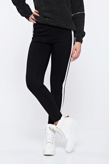 White casual high waisted conical trousers