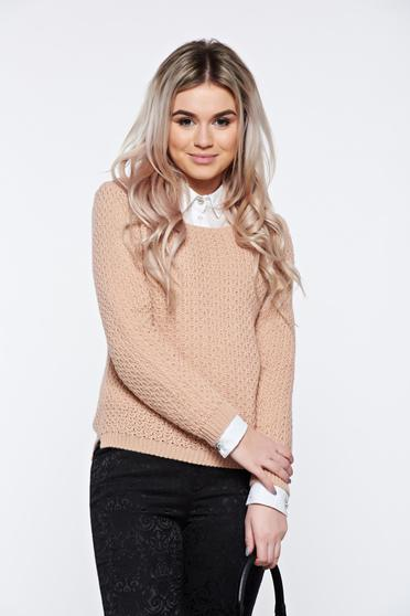 Rosa casual knitted asymmetrical sweater with easy cut