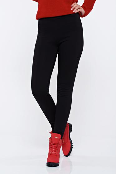 Black casual low waisted tights with tented cut