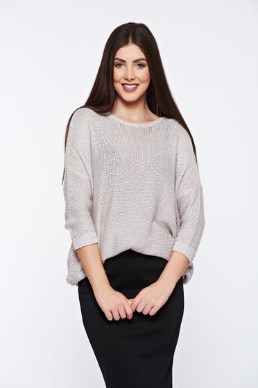 Top Secret nude sweater casual knitted flared
