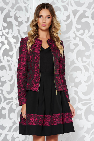 StarShinerS timeless romance occasional tented purple jacket with raised flowers