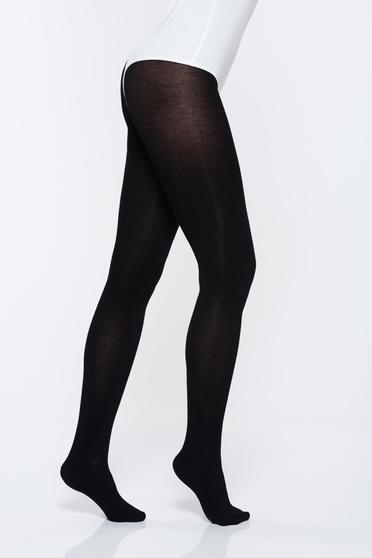 Black 250 den women`s tights with 3d effect not reinforced toe