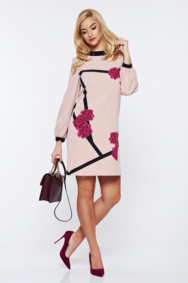 StarShinerS timeless romance elegant flared rosa dress with floral print