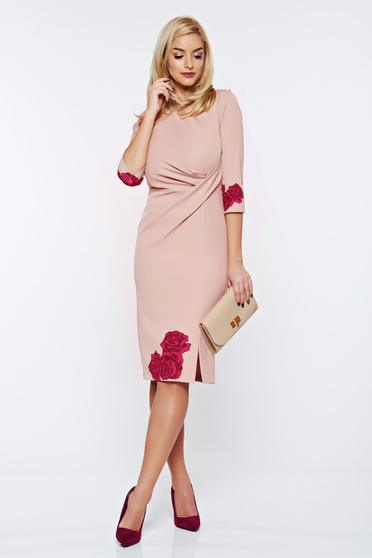 StarShinerS timeless romance office elegant pencil rosa dress with floral print