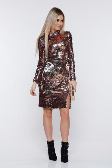 StarShinerS silver dress occasional with sequins with inside lining