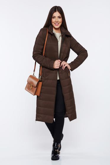 PrettyGirl brown casual jacket from slicker with inside lining with pockets
