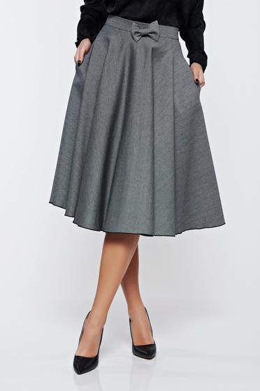 Fofy black skirt office cloche cloth