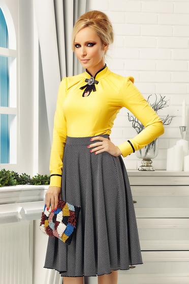 Fofy black skirt cloche cloth high waisted