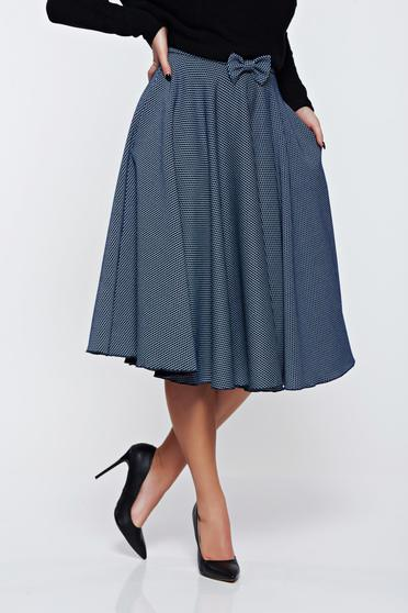 Fofy darkblue skirt office cloche cloth