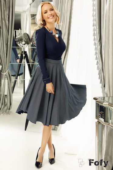 Fofy darkblue skirt cloche cloth high waisted