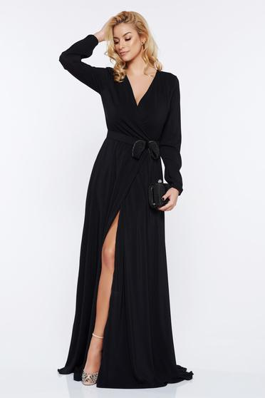 StarShinerS black dress occasional cloche with v-neckline