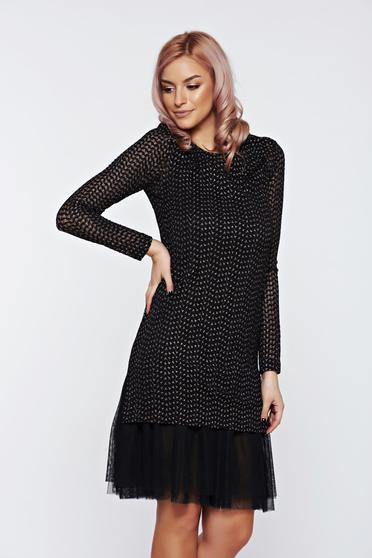 LaDonna black dress occasional laced net