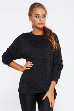 PrettyGirl darkgrey sweater casual flared knitted fabric