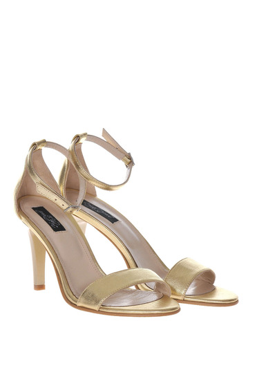 Gold sandals elegant natural leather