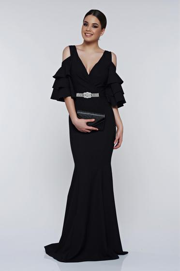 Artista black dress evening dresses mermaid off shoulder with a cleavage