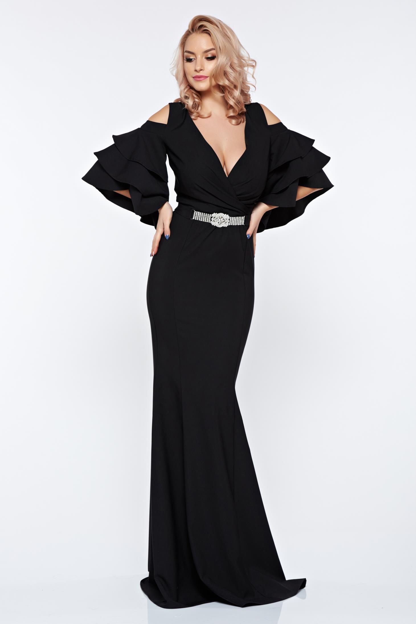 Fekete Artista szirén tipusú estélyi ruha váll nélküli dekoltált 9652843d37