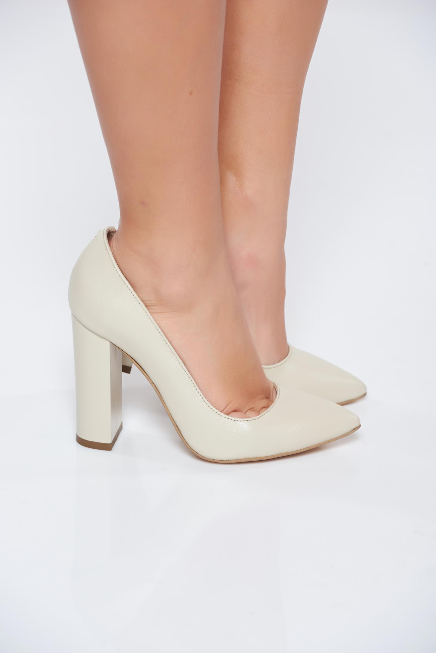 Cream Chunky Heels
