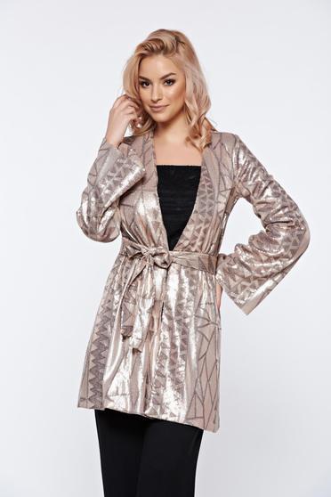 PrettyGirl cream elegant cardigan with sequins with inside lining